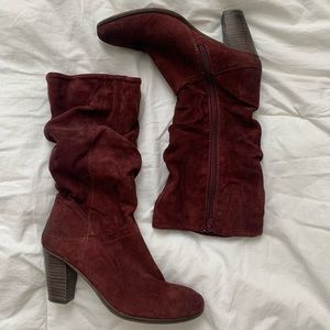 Steve Madden over ankle distressed leather boot